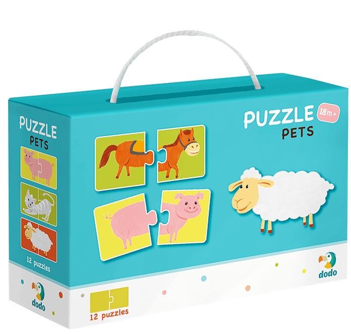 Puzzle 12x2: Połówki - zwierzęta (DOP300115)