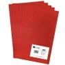 Filc poliestrowy A4, 5 szt. red (DPFC-007)
