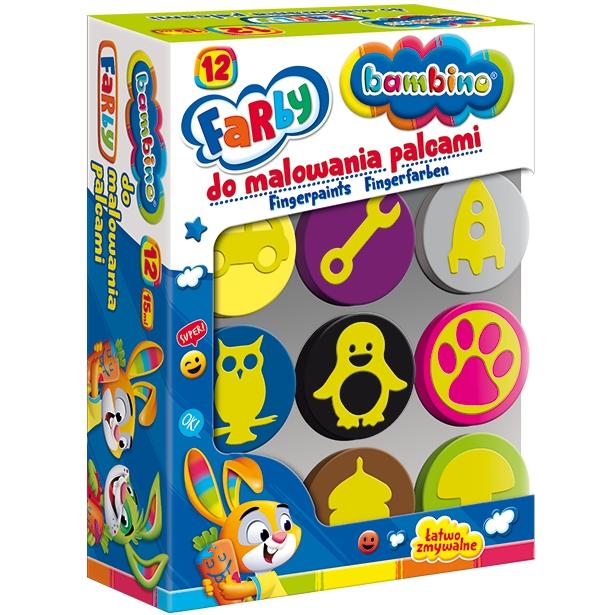 Farby do malowania palcami, 12 kolorów
