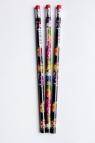 Ołówek drewniany z gumką - mix wzorów