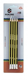 Ołówek z gumką 4szt