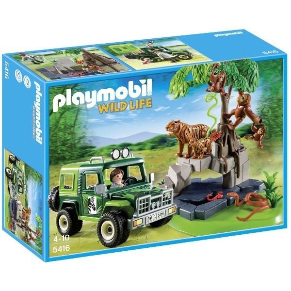 PLAYMOBIL Samochód teren owyprzy tygrysach i oran