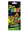 Kredki ołówkowe 12 kolorów Wojownicze żółwie Ninja