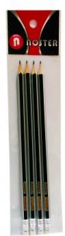Ołówek z gumką Komplet 4 sztuki
