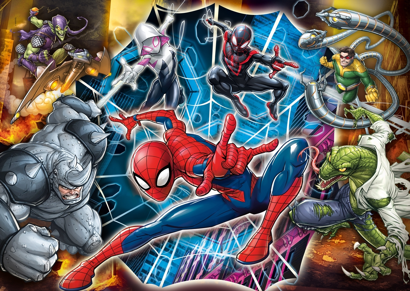 Puzzle Maxi SuperColor 104: Spider-Man (23716)
