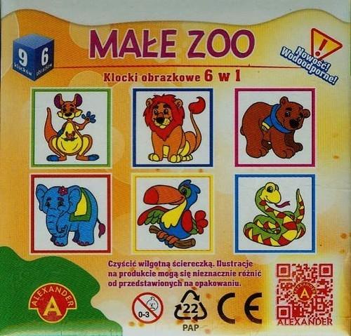 Małe zoo klocki obrazkowe 6 w 1 (0816)
