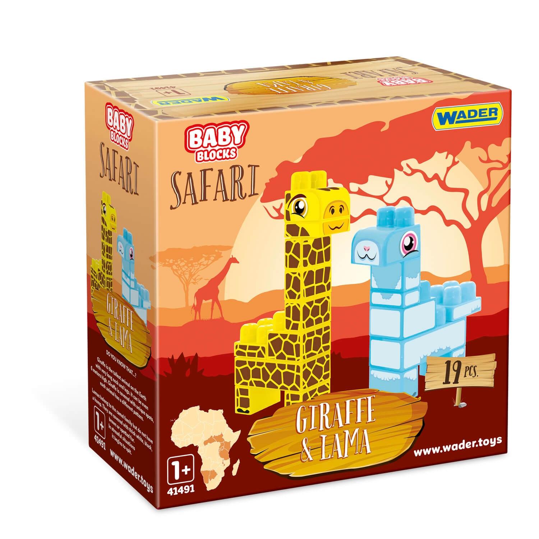 Baby Blocks Safari - klocki żyrafa i lama (41500)