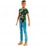 Ken stylowy koszula w kwiaty (DWK44)