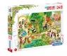 Clementoni, puzzle Maxi SuperColor 24: Zoo (28505)