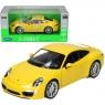 WELLY Porsche 911 Carrera S, żółte (WE24040)