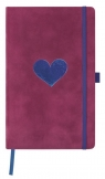 Notatnik 13x21cm gładki Castelli Velluto Heart