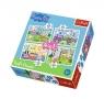 Puzzle 4w1 Świnka Peppa Wspomnienie z wakacji (34316)