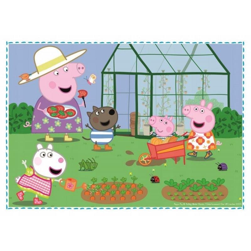 Puzzle 4w1: Świnka Peppa - Wspomnienie z wakacji (34316)