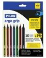 Kredki ołówkowe ERGO 10 kolorów MILAN