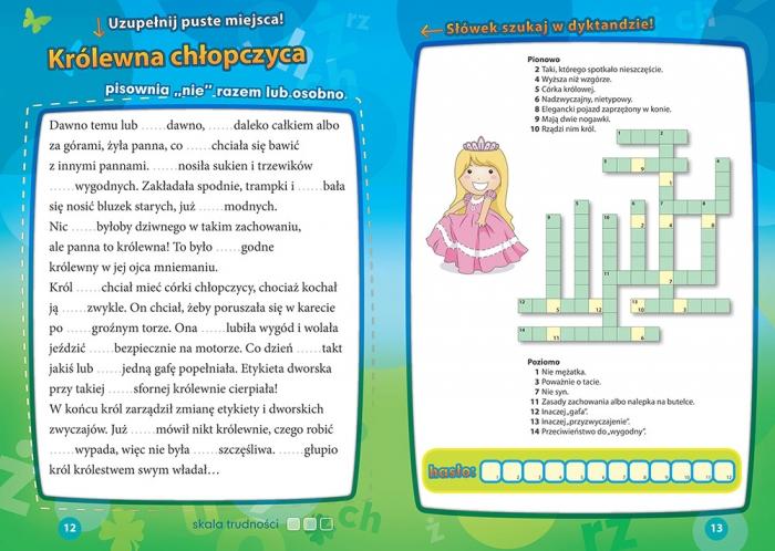 Dyktanda z humorem do klasy 4 Zawadzka Joanna, Zimoch Aleksandra (layout), Południak Marcin (okładka)