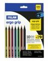 Kredki ołówkowe Milan ERGO 291, 10 kolorów w kartonowym opakowaniu (07229110)