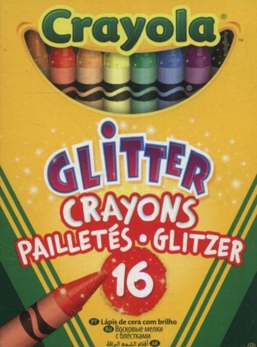 Kredki brokatowe Crayola 16 kolorów