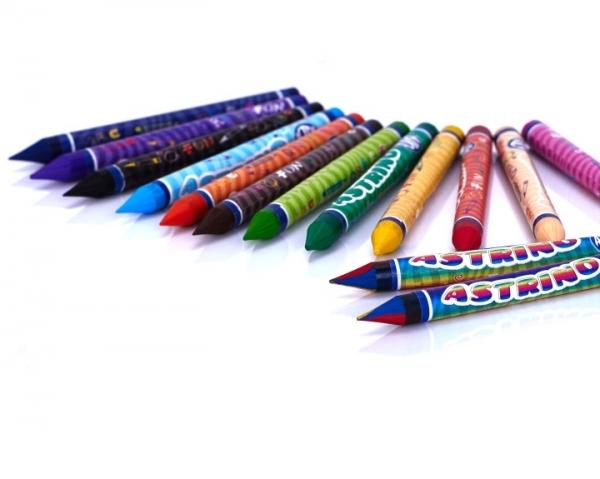 Kredki woskowe Astrino 12 + 2 kolory gratis (316115001)