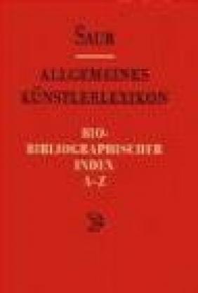 Allgemeines Kunst. Bio-Biblio v 6 Index A-Z
