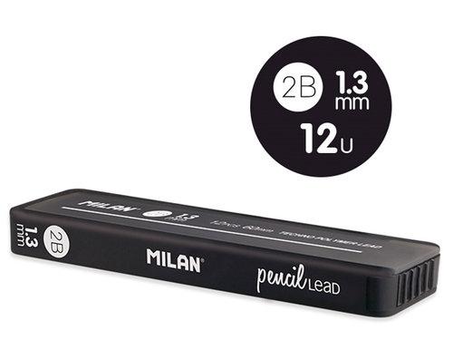 Wkłady Milan do ołówka mechanicznego 2B, 1,3 mm
