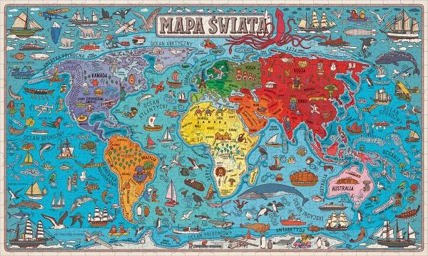 Wszystko na mapie. Puzzle 600 elementów