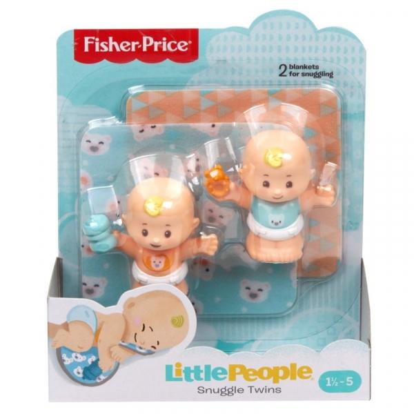 Little People: Figurki Bliźniaki bobasy i akcesoria - motyw misia (GKP67/GKP68)