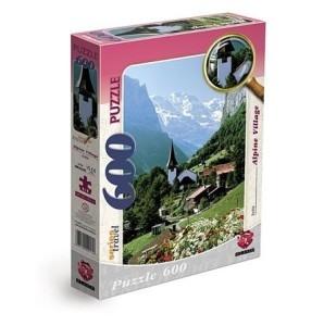 Puzzle 600 - Wioska alpejska Austria MAXIM