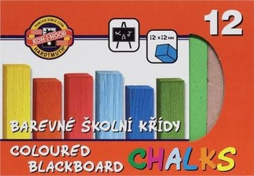 Kreda kolorowa do tablic 12 sztuk