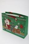 Torebka świąteczna 3d pozioma mała Święty Mikołaj