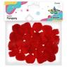 Pompony akrylowe, 30 szt. - czerwone (283063)