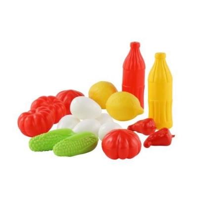 Figurka Polesie zestaw zakupowy nr.5 17 elementów warzywa/owoce w siatce (47007)