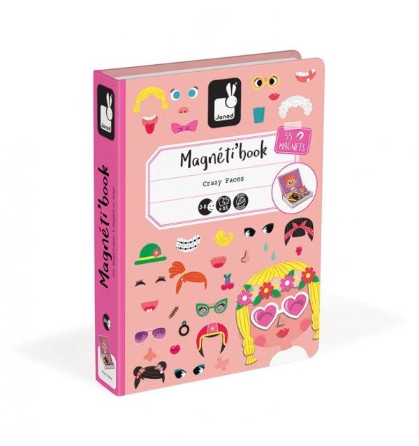 Magnetyczna układanka. Śmieszne buzie. Dziewczynka. Magnetibook (J02717)