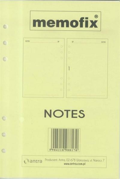 Wkład do organizera A5 Notes ANTRA