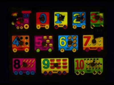 Puzzle Bigtoys drewniany pociąg 12 el. (BPUZ0025)