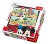 Puzzle 4w1 Myszka Miki i Przyjaciele Na farmie  (34117)