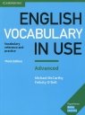 English Vocabulary in Use Advanced with answers