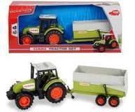 Traktor z maszyną 16 cm.metalowy