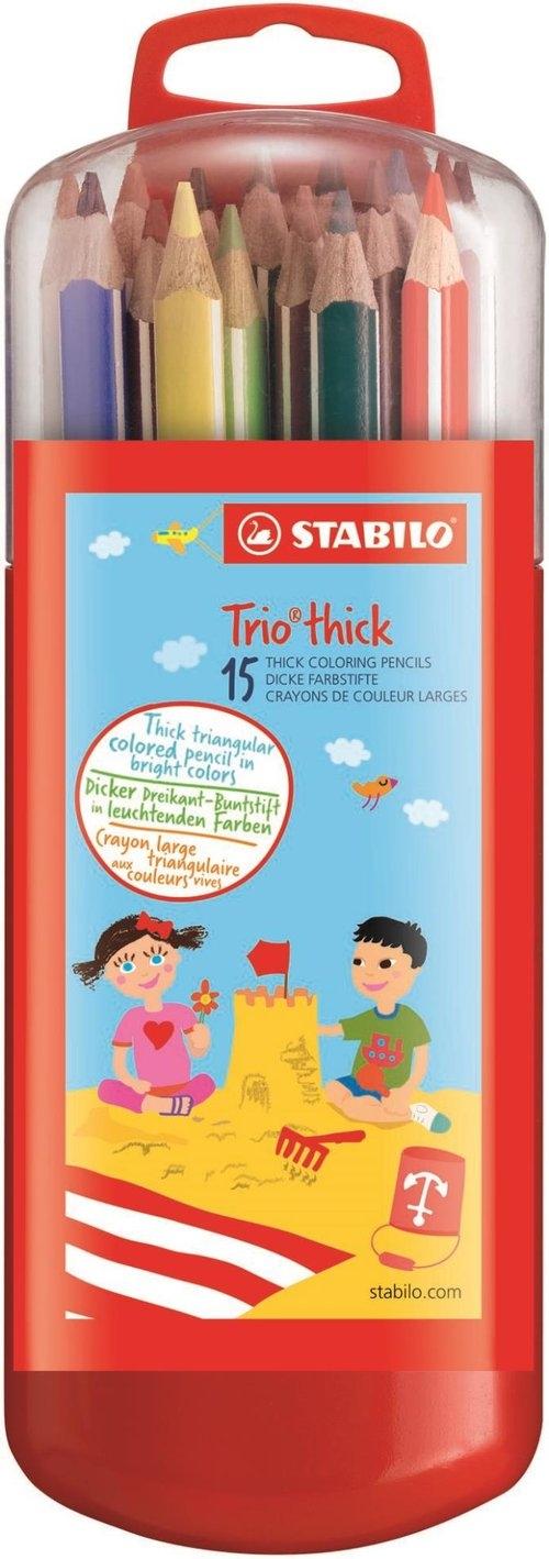 Kredki Stabilo Trio Grube Zebrui 15 sztuk