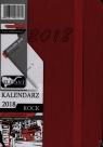 Kalendarz Rock czerwony A7 tyg. 2018