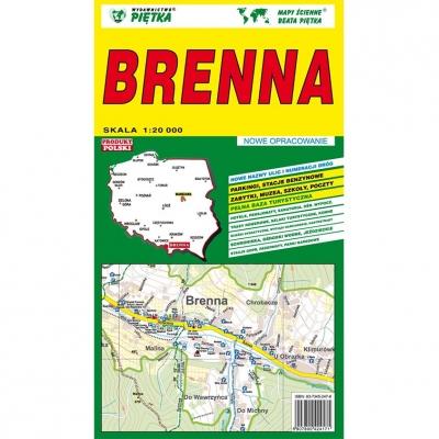 Plan miasta Brenna Wydawnictwo Piętka