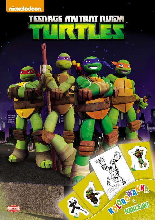 Wojownicze Żółwie Ninja Kolorowanka i naklejki (DPN601)