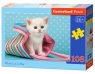 Puzzle White Cat in Bag 108 elementów (010172)