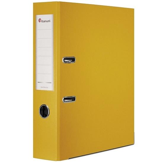 Segregator dźwigniowy Titanum, A4/75mm - żółty (267767)