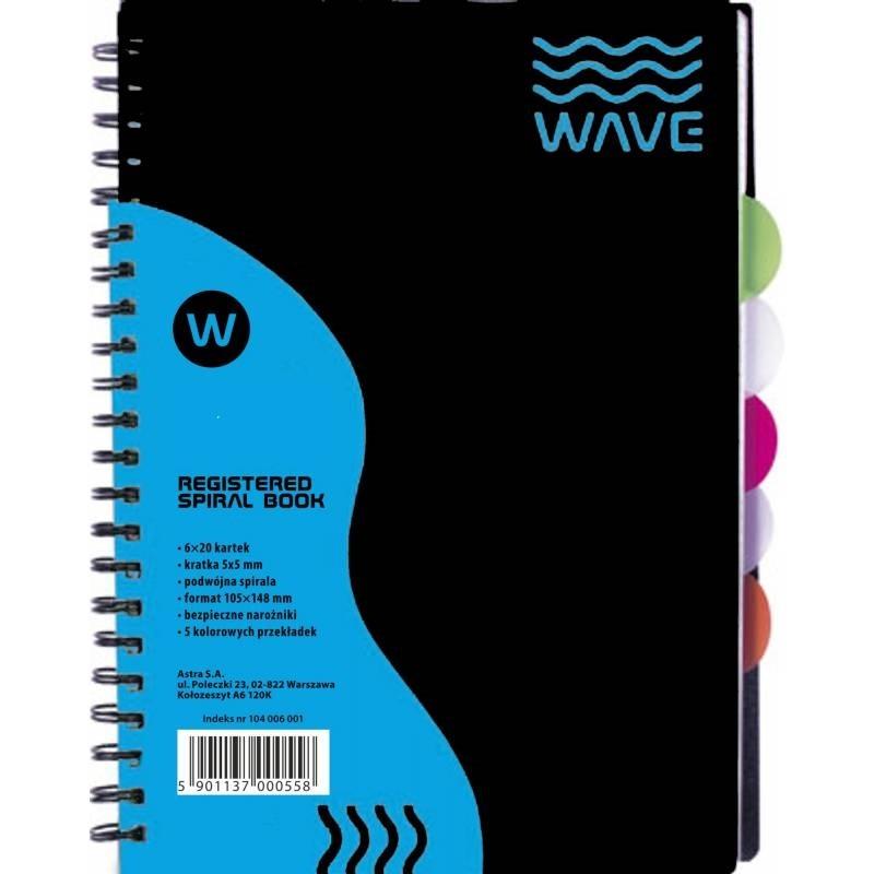 Kołozeszyt Astra A4/120k kratka - Wave (104006004)