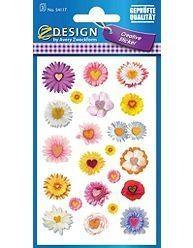 Naklejki papierowe kwiaty 54117