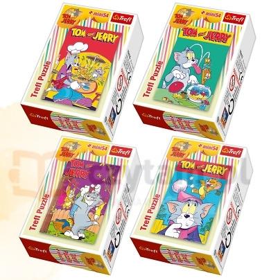 Puzzle 54 elementy mini Tom i Jerry (19417)