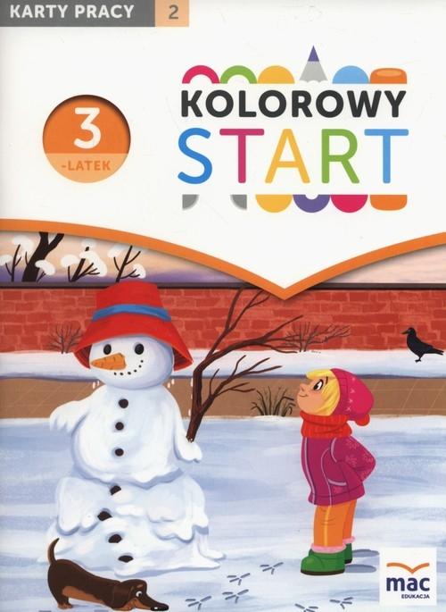 Kolorowy start Trzylatek Karty pracy Część 2 Żaba-Żabińska Wiesława
