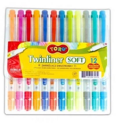 Zakreślacz dwustronny Toru 12 kolorów DONG-A