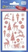 Naklejki świąteczne wzory