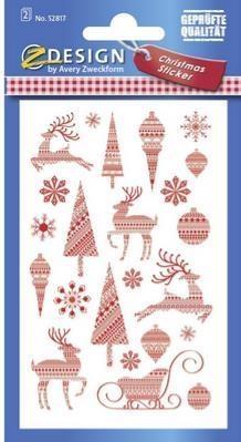 Naklejki świąteczne wzory 52817